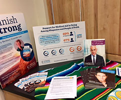 Photo of printed materials on a table. Links to Gifts of Cash, Checks, and Credit Cards